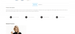 Product Sharing On Full Width Page