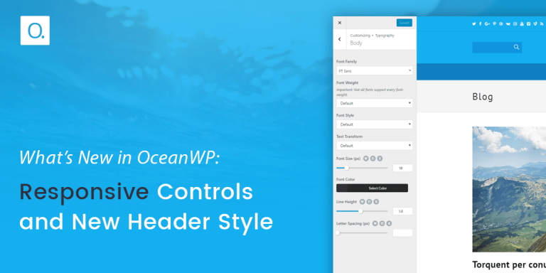 What's New in OceanWP: Responsive Controls and New Header Style