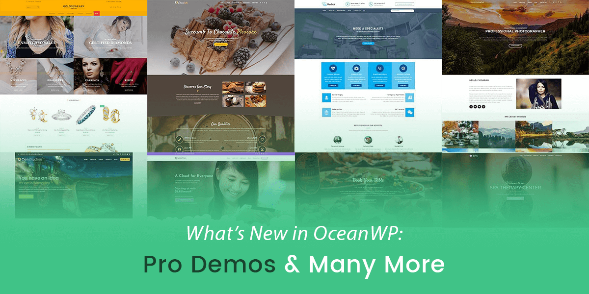 What's New in OceanWP: Pro Demos & Many More