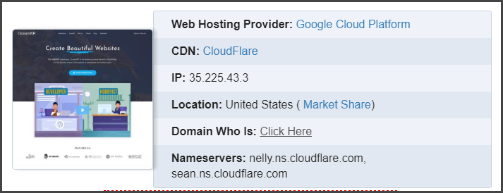 How to find website host using Domain name