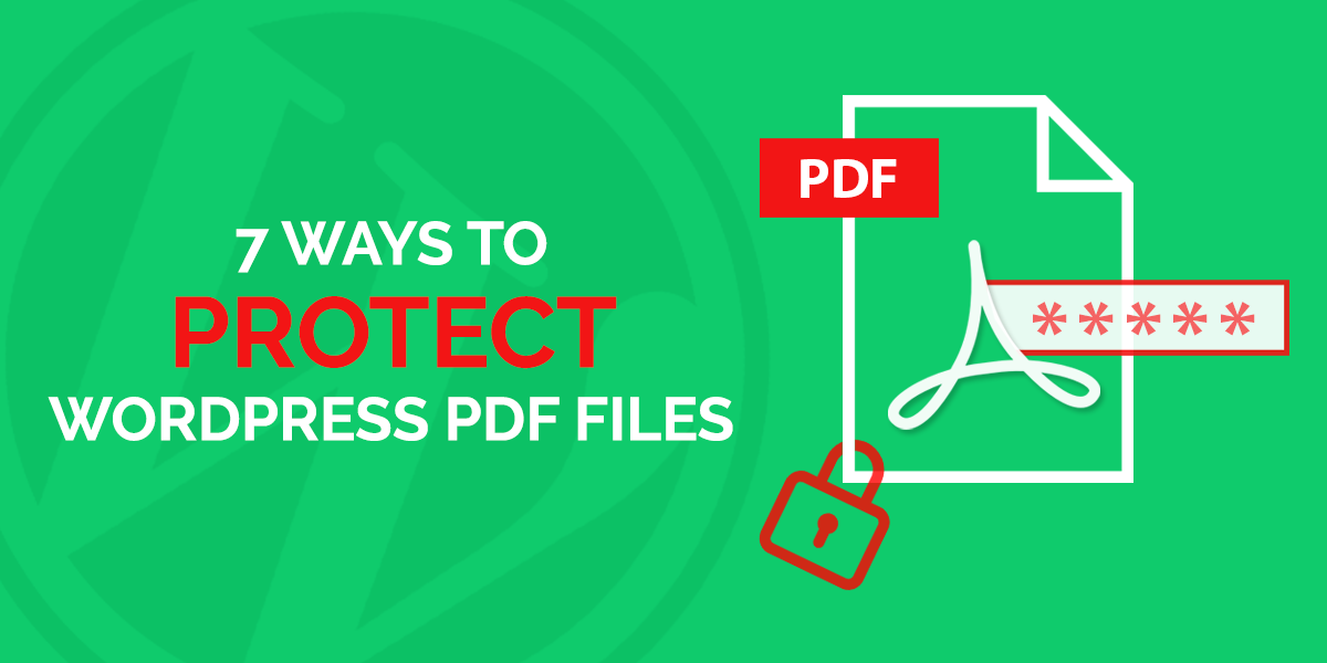 7 Ways to Protect WordPress PDF Files - OceanWP