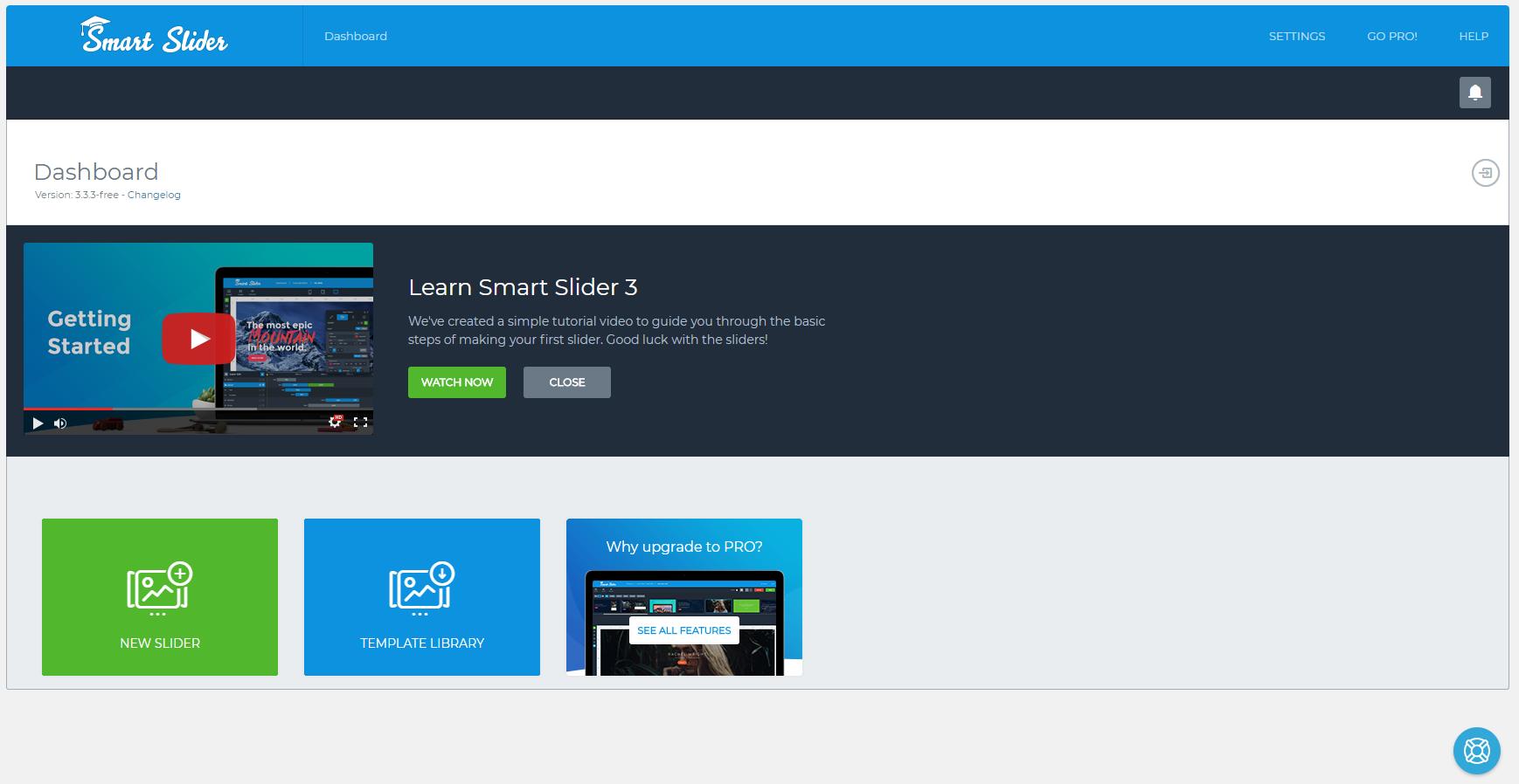 Smart Slider 3 Dashboard