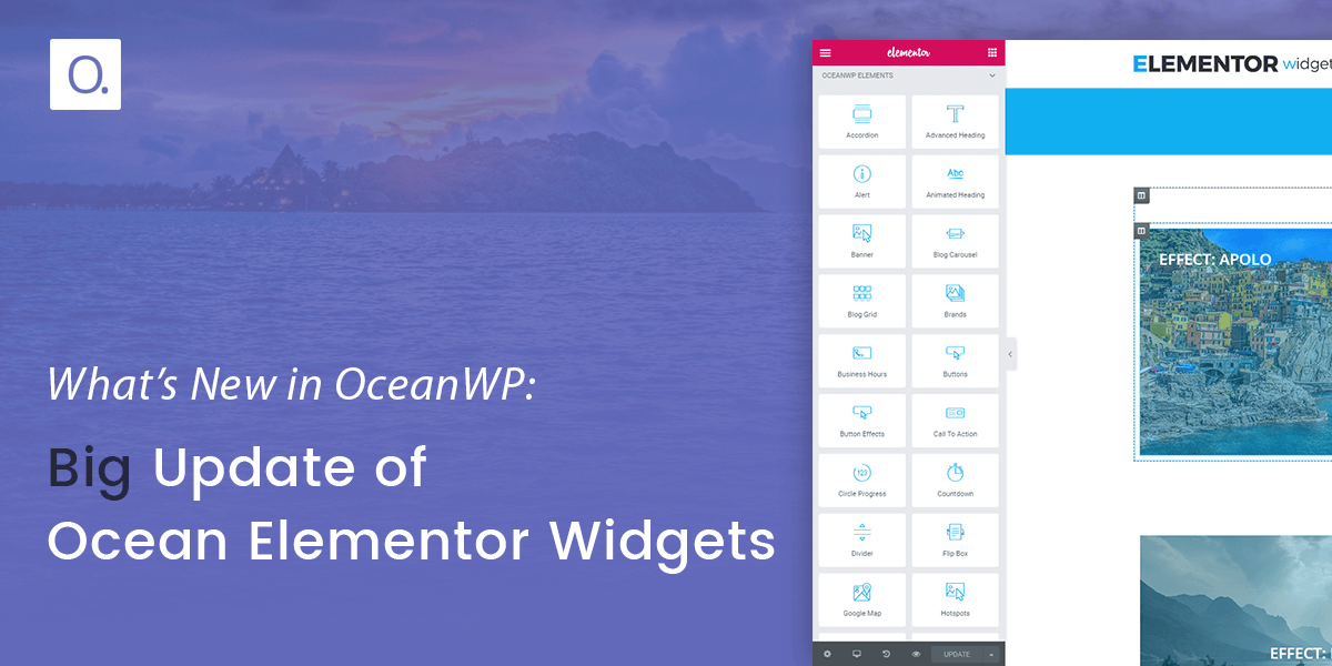 Big Update of Ocean Elementor Widgets is Here!