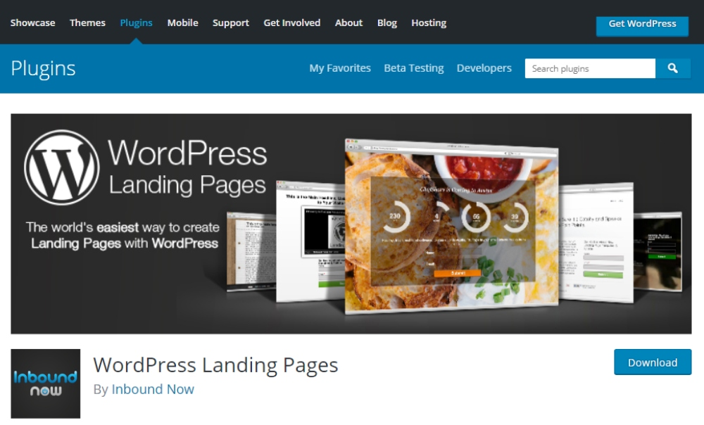 wordpress-landing-pages -screenshot