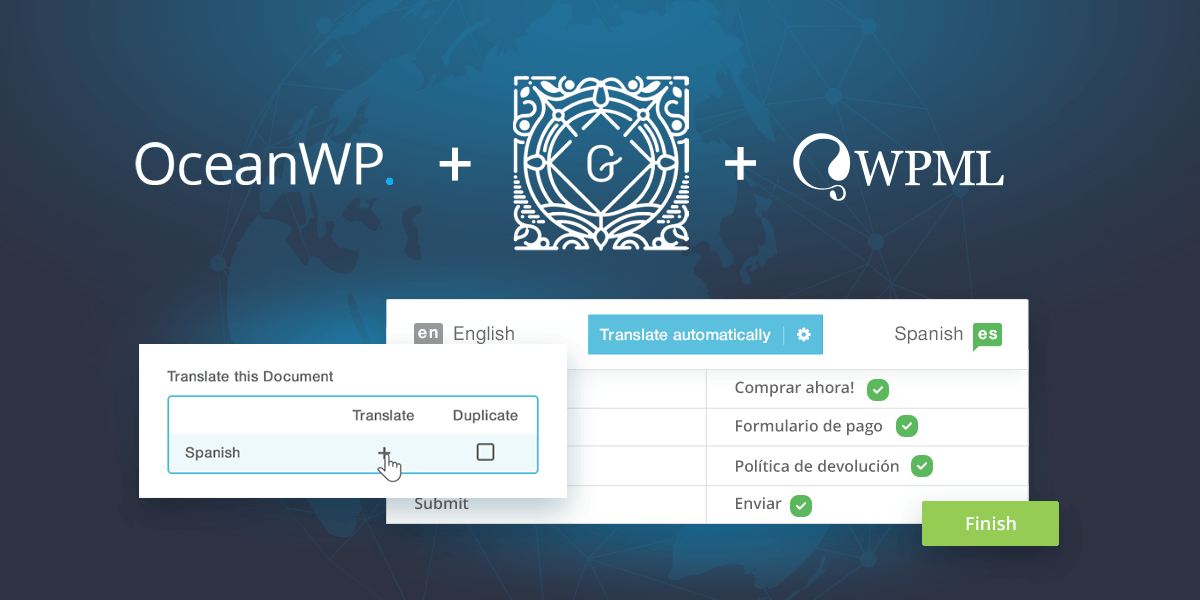 How WPML, Gutenberg and OceanWP make it easy to translate your content
