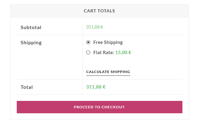 Screenshot of OceanWP theme WooCommerce shipping methods layout